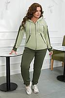 Стильный осенний женский спортивный костюм большого размера, фото 2