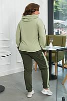 Стильный осенний женский спортивный костюм большого размера, фото 3