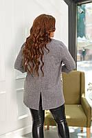 Пиджак женский отложным воротником и длинными рукавами большого размера,  Пиджак женский, Пиджак женский белый с накладными карманами большого размера, фото 5