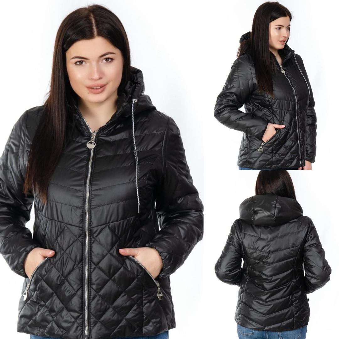 Куртка женская короткая со съемным капюшоном большого размера, Женские куртки на осень короткие с капюшоном