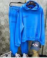 Женский спортивный костюм из двунити кофта с капюшоном и карманом кенгуру, фото 3