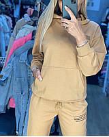 Женский спортивный костюм из двунити кофта с капюшоном и карманом кенгуру, фото 5