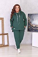 Женский спортивный костюм из двунити кофта с капюшоном Большой размер, фото 5
