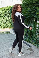 Костюм спортивный женский большого размера двухнитка, Женский спортивный костюм трикотаж двунитка, фото 4
