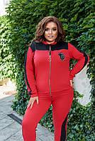 Костюм спортивный женский большого размера двухнитка, Женский спортивный костюм трикотаж двунитка, фото 5