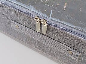 Органайзер Ш 60*Д 40*В 11 см. Цвет серый для хранения обуви или небольших предметов, фото 2