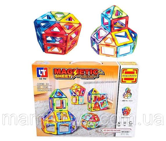 Магнитный конструктор LT 1002 46 деталей 3 D формат