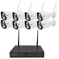 Комплект видеонаблюдения UKC 6678 DVR KIT Wi-Fi 8 камер White (2_009302), фото 1