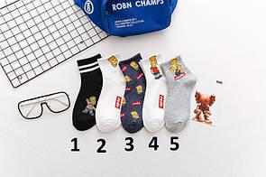 Круті шкарпетки bart simpson шкарпетки сімпсони