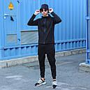 Спортивный костюм мужской черный Актив  размер: XS, S, M, L, XL, фото 2