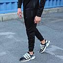 Спортивный костюм мужской черный Актив  размер: XS, S, M, L, XL, фото 4