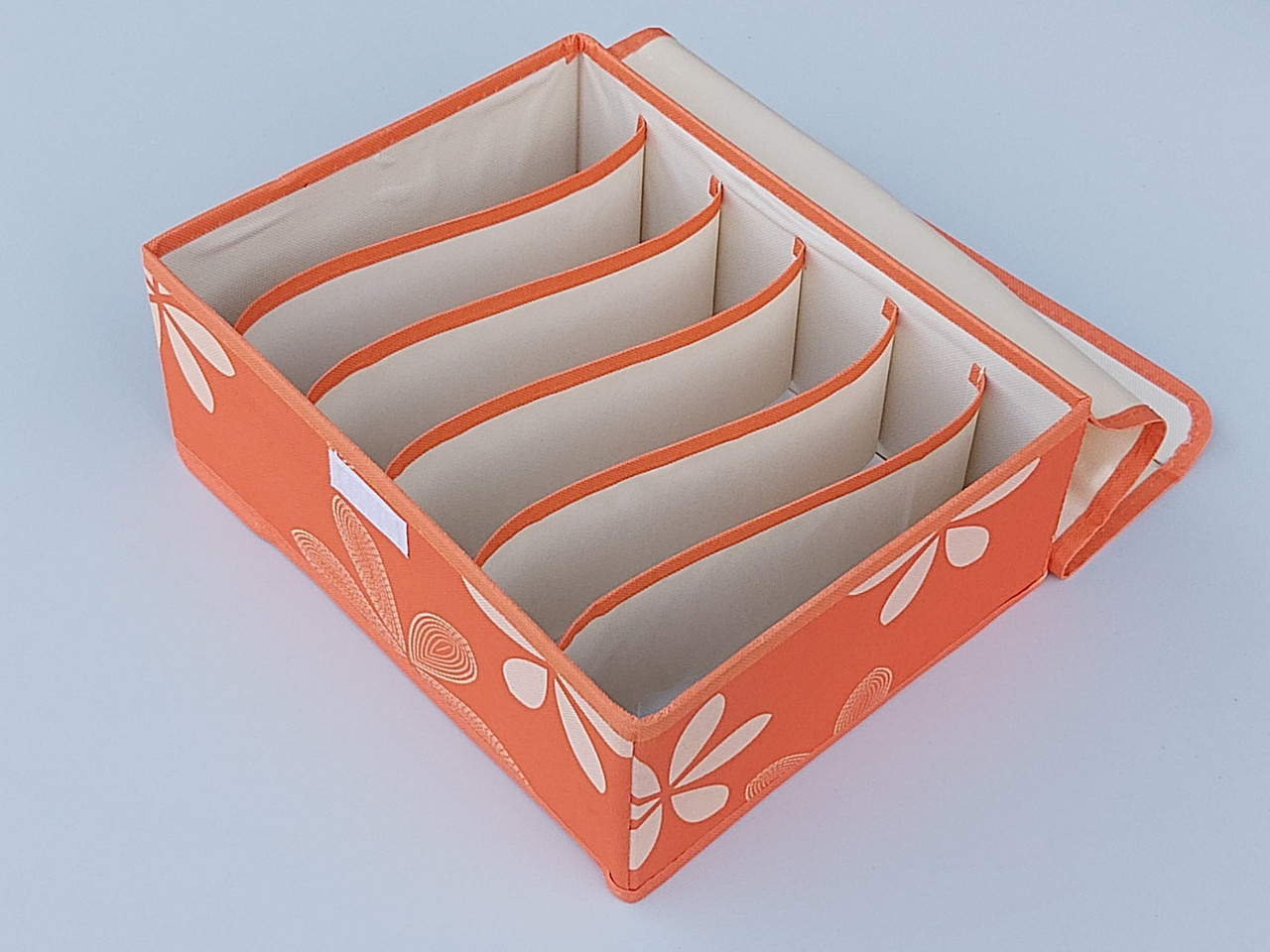 Органайзер с крышкой 31*24*12 см, на 6 отделений, для хранения мелких предметов одежды оранжевого цвета