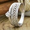 Серебряное кольцо Пассаж вес 2.5 г размер 17.5 белые фианиты, фото 2