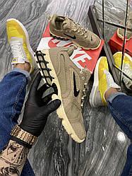 Чоловічі кросівки Nike Air Zoom Spiridon Cage 2 Stussy Sundy (бежеві)