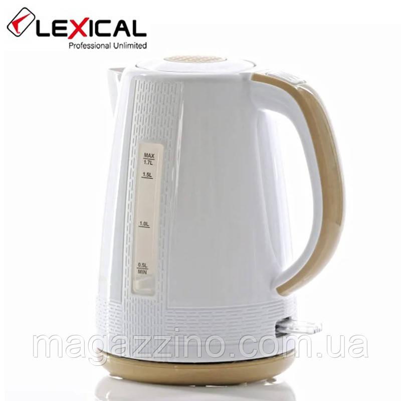 Електричний чайник Lexical LEK-1401, 1.7 л, 2200 Вт.