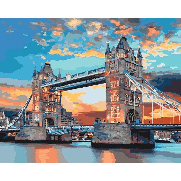 Картина по номерам Лондонский мост ТМ Идейка 40 х 50 см КНО3515