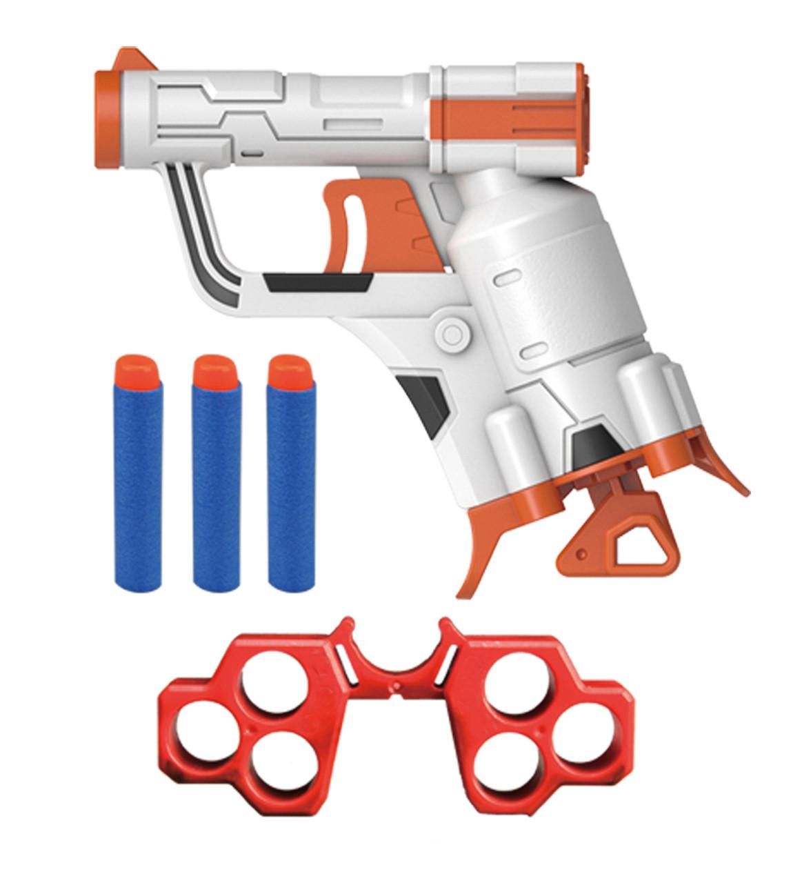 Пистолет игрушечный, стреляет мягкими патронами B3214