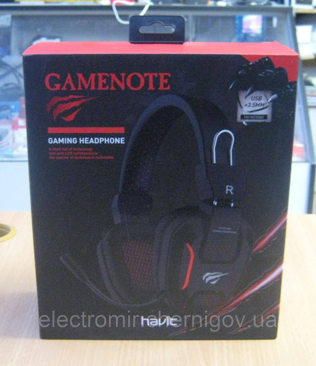 Навушники ігрові з підсвічуванням і мікрофоном Havit HV-H2168d