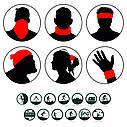 Балаклава, маска (Ніндзя 2) 4, Унісекс, фото 10