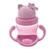 Чашка-поилка пластик детская с ручками, R83594