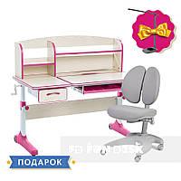 Растущий комплект для девочки парта Cubby Ammi Pink + эргономичное кресло FunDesk Solerte Grey, фото 1