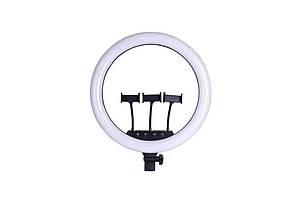 Кільцева LED лампа SLP-G63 55см діаметр | 3 кріплення телефону | Пульт ДУ, фото 2