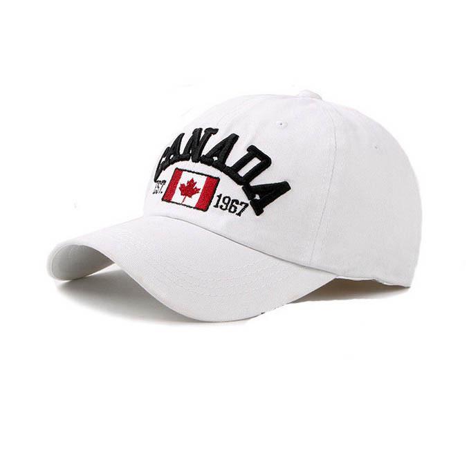 Біла бейсболка Canada SGS - №5138