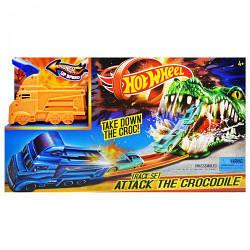 """Трек игрушечный с запуском и и детской машинкой """"Hot Wheel"""" """"Crocodile""""  3078"""