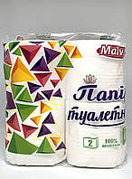 """Туалетная бумага белая """"Malvar"""" 2 слоя (4шт.) 12 уп. \ Ок.100% целлюлоза"""