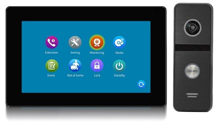 Комплект домофона CoVi Security TAB FHD Black + Iron FHD Black