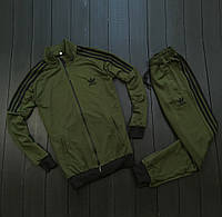 Мужской спортивный костюм адидас/Adidas три полоски без капюшона, реплика, фото 1