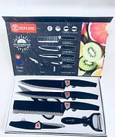 Набор Ножей С Нержавеющей Стали 6 Предметов BN-8004 NON Stick 6 В 1