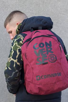 Рюкзак  Конверс, Converse,  Мужской, Женский Красный, фото 2