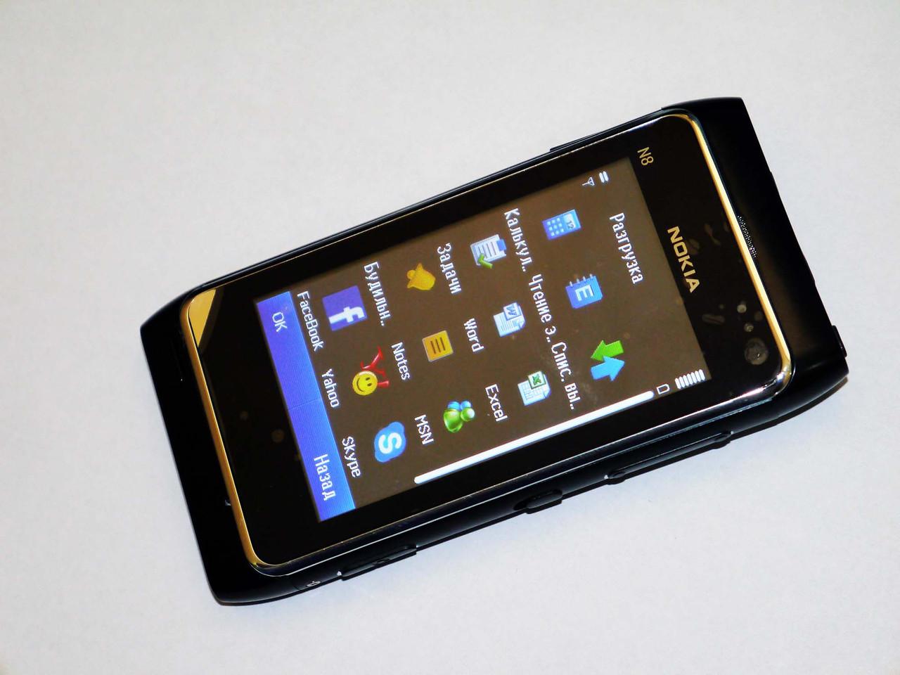 Телефон Nokia N8 - 1Sim+ Металл+ Java+ FM