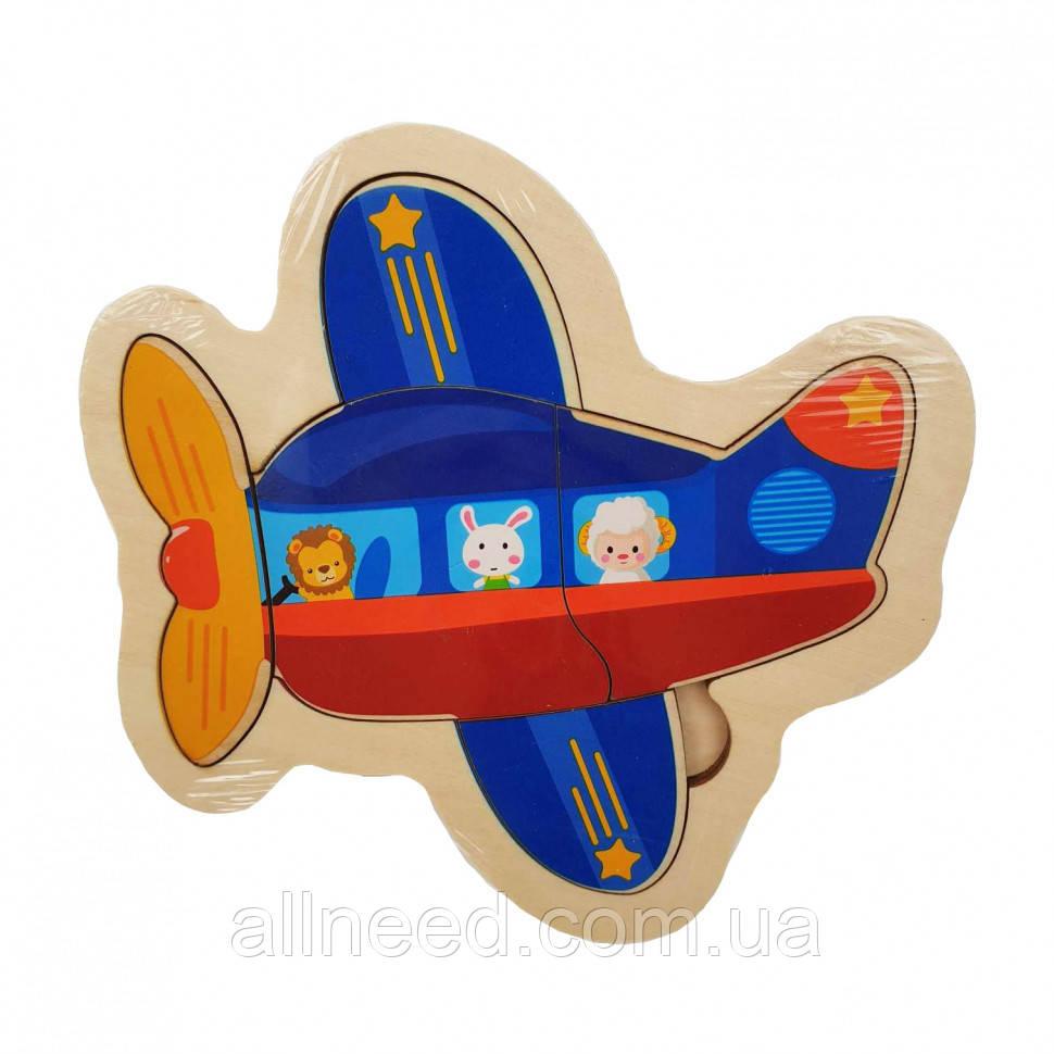 Деревянная игрушка Пазлы MD 2283 (Самолёт)