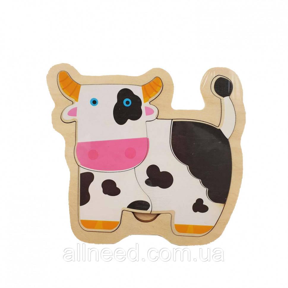 Деревянная игрушка Пазлы MD 2283 (Корова)