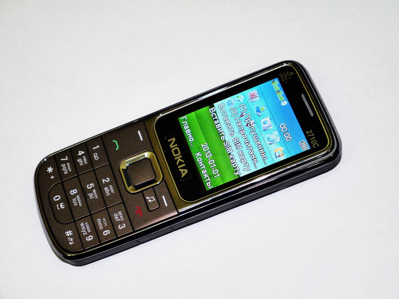 Телефон Nokia 2710 Коричневый - 2Sim Металл корпус