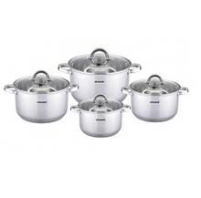 Набор посуды из нержавеющей стали Vincent 4 шт 1,9л/2,6л/3,6л/6,1л  (VC-3030)