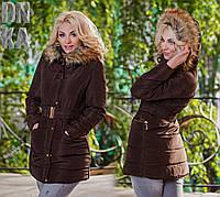 Куртка тёплая для девушек с мехом