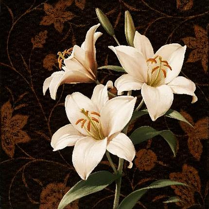 КДІ-0007 Набір алмазної вишиванки Білі лілії, фото 2
