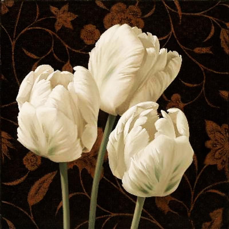 КДИ-0008 Набор алмазной вышивки Белые тюльпаны