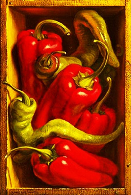 КДИ-0042 Набор алмазной вышивки Красный перец. Художник Denise Mickilowski