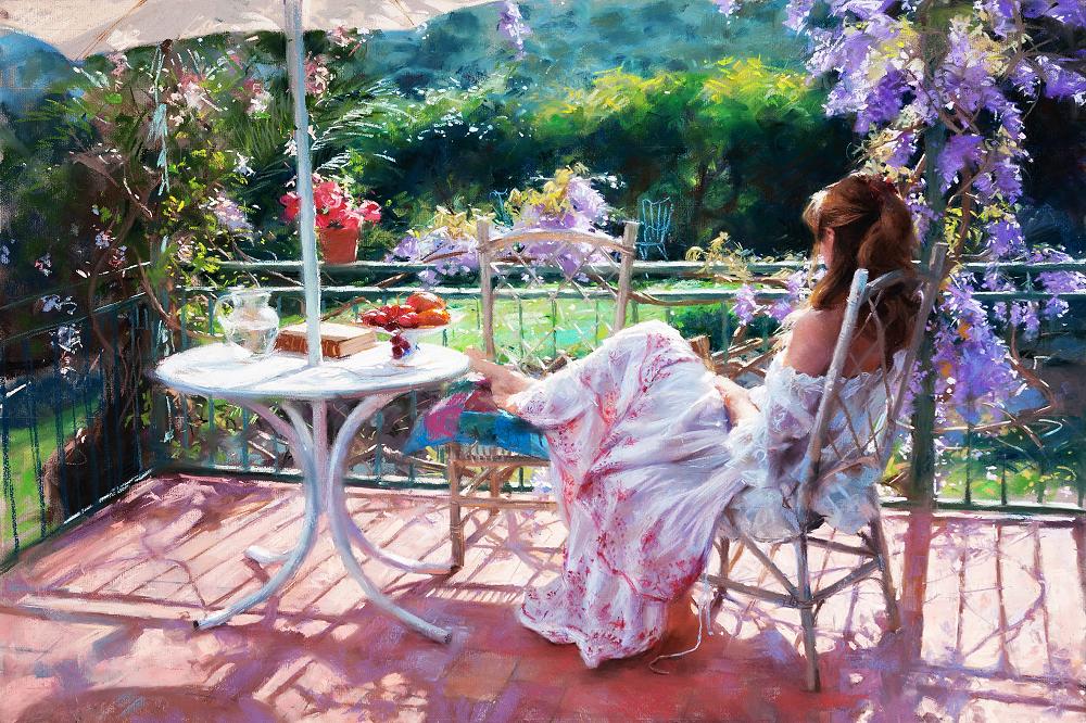 КДИ-0900 Набор алмазной вышивки Мечты на террасе. Художник Vicente Romero Redondo