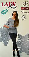 Леггинсы-лосины махровые черного цвета на девочку