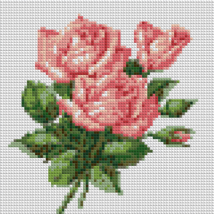 КДІ-0927 Набір алмазної вишивки Три троянди, фото 2
