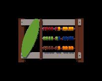 Деревянная секция Считалка для ограждения игровой площадки на даче, в детском саду, без столбов 100х6х100 см