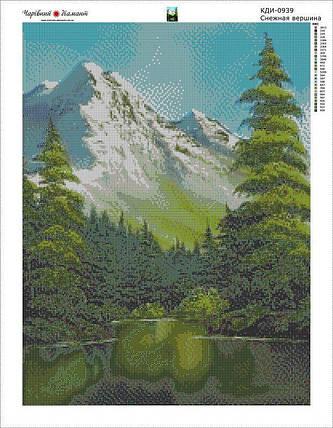 КДІ-0939 Набір алмазної вишивки Снігова вершина-2, фото 2