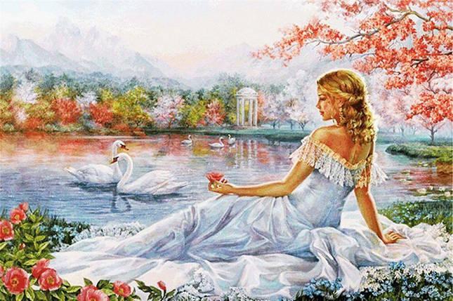 КДІ-0941 Набір алмазної вишивки Мрії біля озера, фото 2