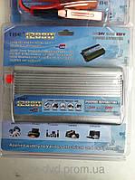 Преобразователь авто инвертор 24V-220V, 1200W +USB,