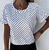 Блуза в горошек с коротким рукавом, фото 2